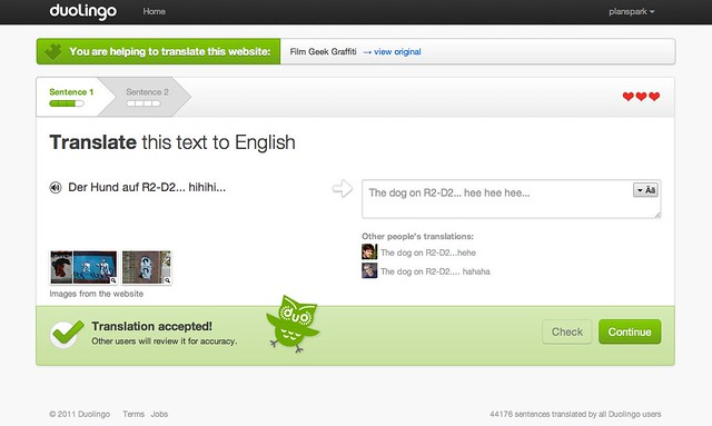 Duolingo: Translation