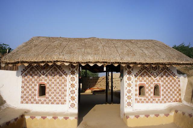 Rang decor interior ideas predominantly indian shaam e for Indian village home design