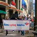 "Activists hold ""funeral for democracy"" at Bank of America HQ"