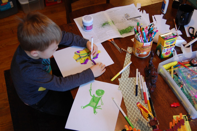 arts and crafts | spent the morning making dragons, ninjas ...
