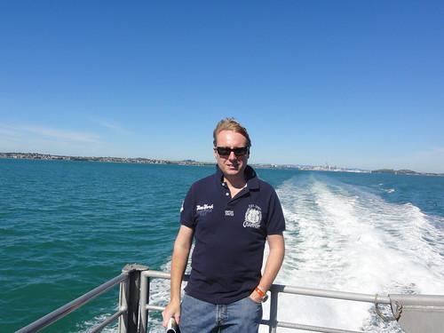 Marc on the ferry to Waiheke