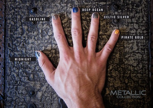 alpha nail hand-metallic