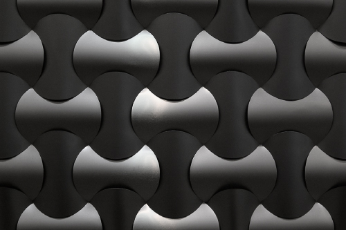 Abstract pattern, made of metal panels
