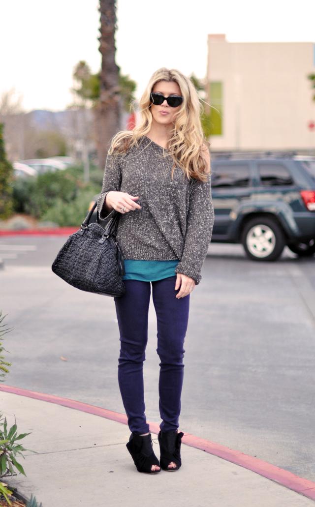 purple jeans- miu mius-casual outfit