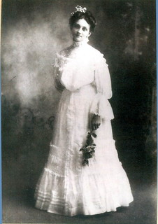 Portrait of Kathryn Stuart Lines Thornton in her wedding dress: Madison, Florida