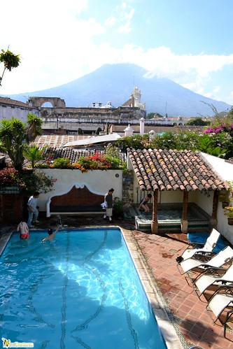 antigua hotel pool family friendly guatemala