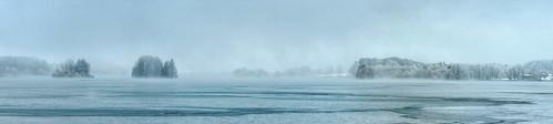 panorama lake misty bavaria frozen cloudy hdr 3px seehamersee weyarn