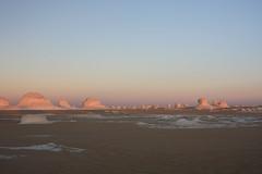 Desert Moonscape at Sunset