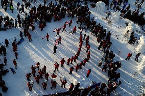Fanfare : Les Éclairs de Québec - Vue de la grande roue.