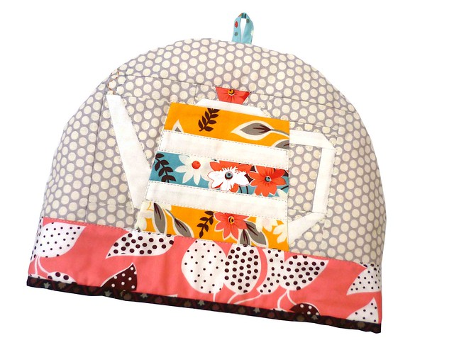 Teapot Fancy cozy for Fat Quarterly Issue 8