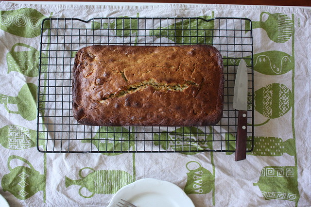 Banana walnut bread for breakfast