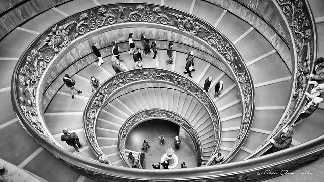 escalier en double spirale du vatican flickr photo sharing. Black Bedroom Furniture Sets. Home Design Ideas