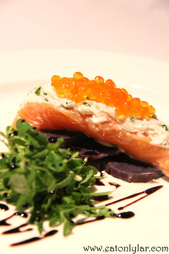 Home tea smoked salmon, The Speakeasy Restaurant & Bar