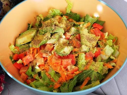 Simple Smashed Avocado Salad