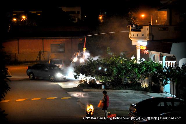 CNY Bai Tian Gong Police Visit 初九拜天公警察來 | TianChad.com