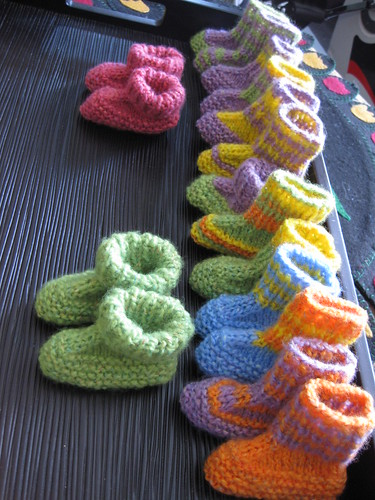 Unmatched Booties for baby