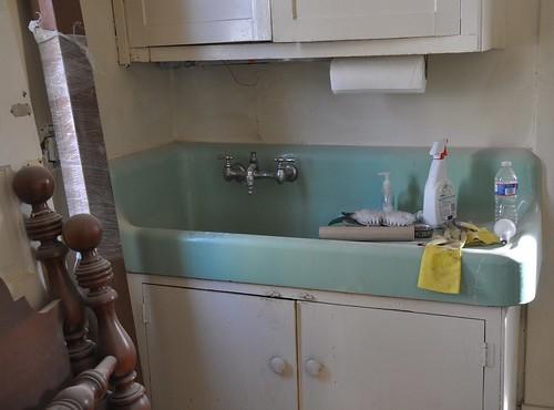 before vintage sink