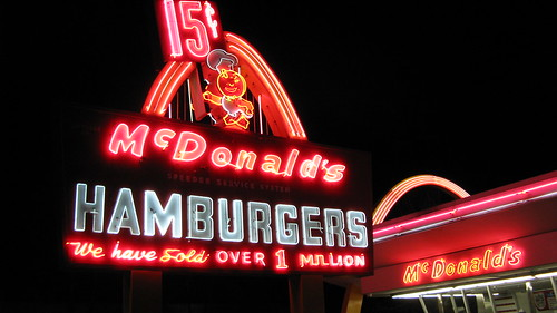The Mc Donald's Museum on Lee Street.  Des Plaines Illinois USA. Monday night, January 30th, 2012. by Eddie from Chicago