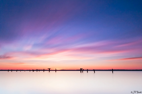 longexposure pink blue winter orange white water silhouette clouds sunrise virginia pier maryland pylons potomacriver leesylvaniastatepark someonegreat bigstopper gottaloveluminositymasks