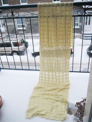 Shawl on the railing