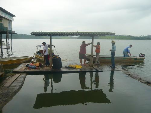 Saída do Porto Novo.