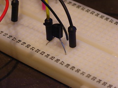 Transistor to power LEDs