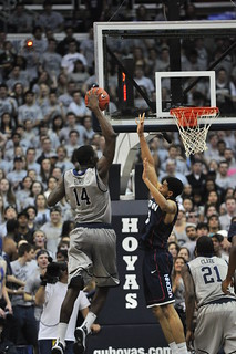 Henry Sims threw down a spectacular dunk late in the second half