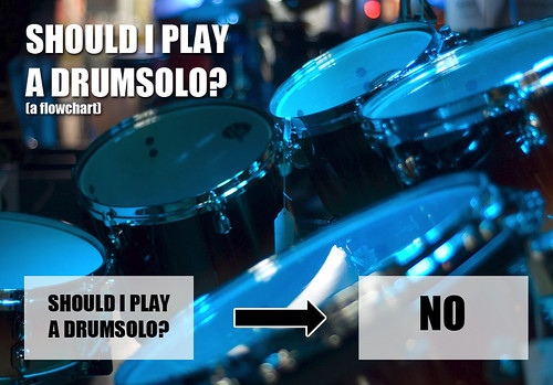 Flowchart: Should I play a drumsolo?