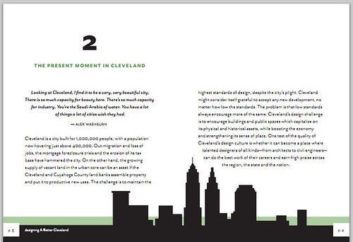 Page from Designing A Better Cleveland booklet by Steven Litt, Cleveland Plain Dealer