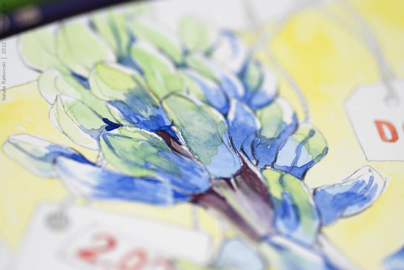 """My """"365"""" sketchbook, detail"""