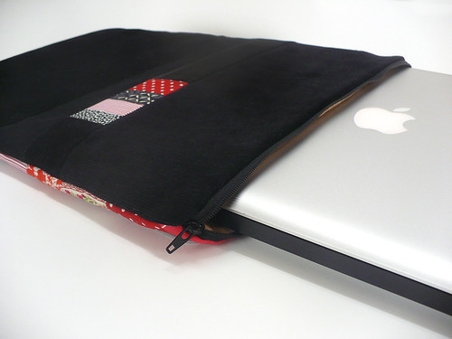 Patchwork laptop cover