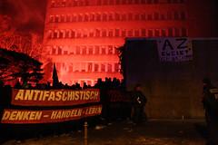Antifaschistische Demonstration & Polizeiangriff auf das AZ Aachen