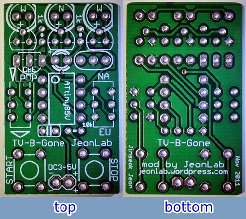 TV-B-Gone_JeonLab_PCB top-bottom