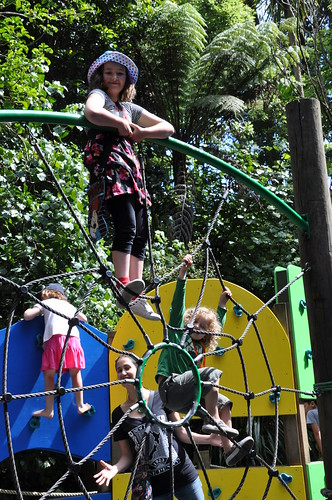 Kids climbing at the Zoo