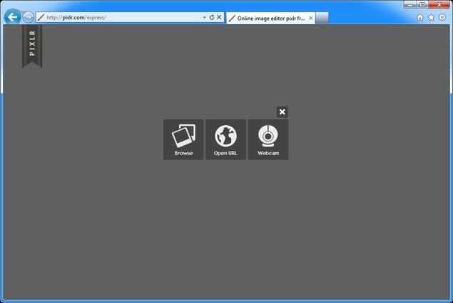 Выбираем фотографию для обработки в Pixlr Express