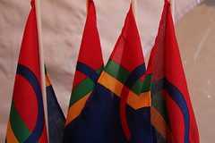 Small Sami flags