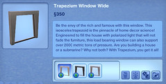 Trapezium Window Wide