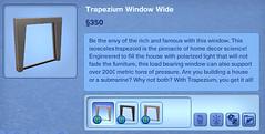 Trapezium Window Wide