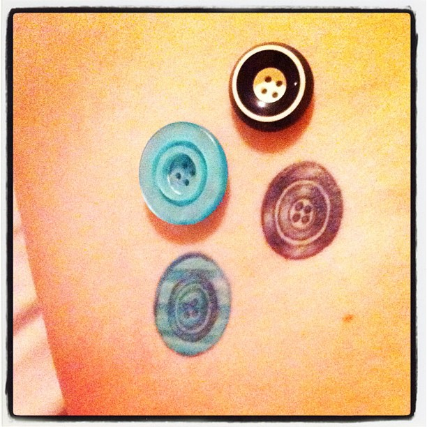 My one + only #button #tattoo #febphotoaday #day7