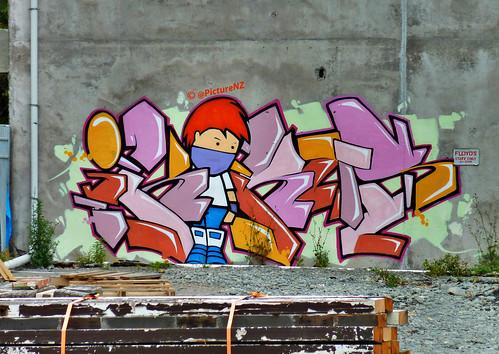 wood newzealand christchurch streetart art graffiti earthquake canterbury tagged ave nz quake southisland avenue pallets tagging fitzgerald floyds quakeart