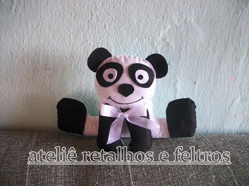 urso panda by atelie retalhos e feltros