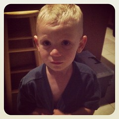 New haircut! High and tight! He asked for it short and cool like his big brother :-)