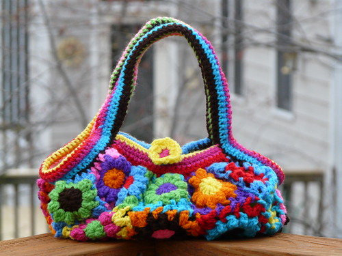 The front of the Flower Blossom Bag