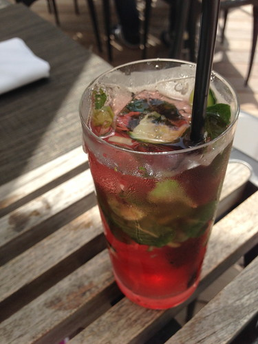Pomegranate Cucumber Mojito at Florida Cookery (Miami, FL)