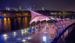 Tampa River Walk by Night