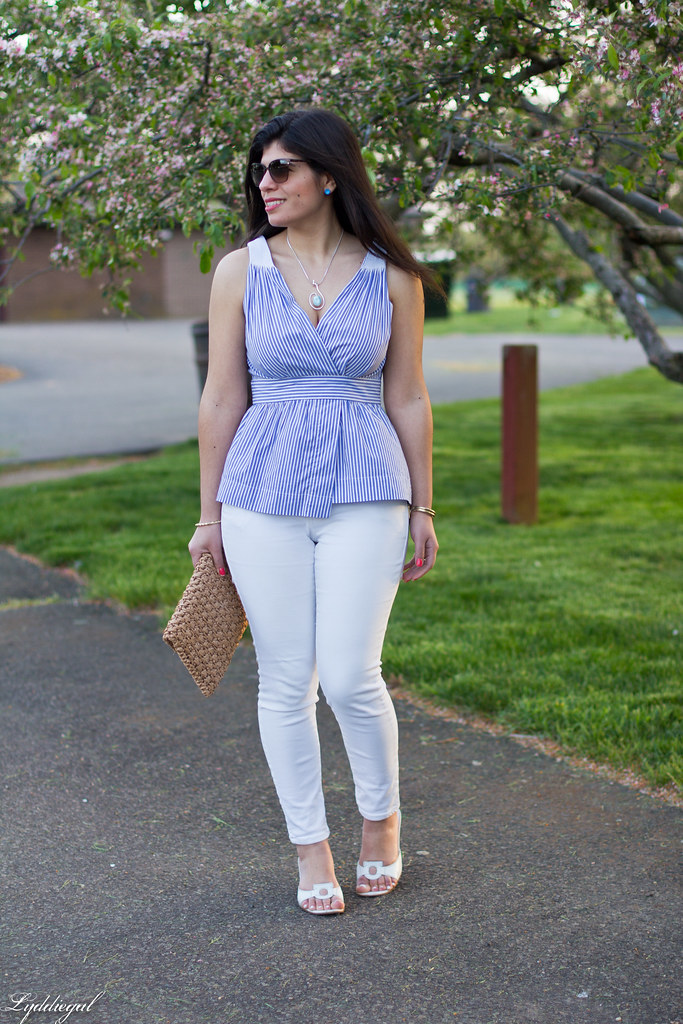 striped peplum top, white jeans, straw clutch-9.jpg