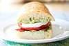 bacon pesto tomato sandwich