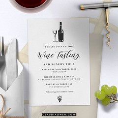 This is for wine lovers. I designed this card for @greenvelope #partyinvitations