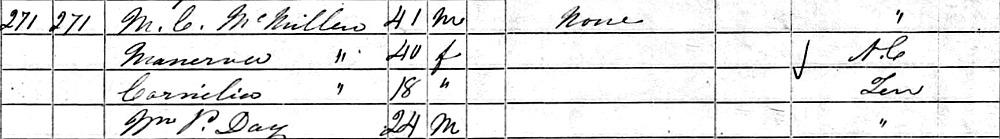 1850 Malcolm McMillen and Minerva Worsham