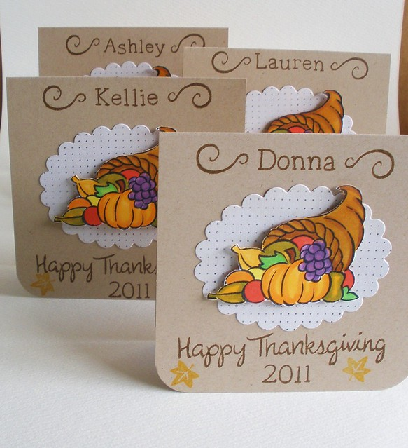 2011 girly placecards